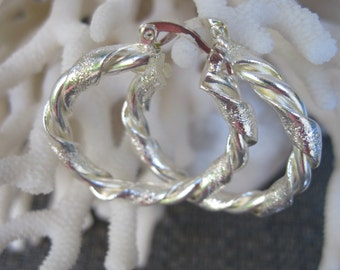 Classic Looped with a Little Extra Sterling Earrings