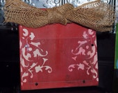 distressed picture frame, 4x6 opening, frames, burlap bow, great gift idea
