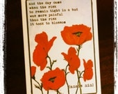 Red Poppy Healing Cards (Set of 6)