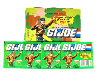 4 GI Joe Sticker Packs from Diamond Publishing Totally 80's