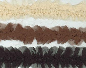 Silk Ruffle Trim