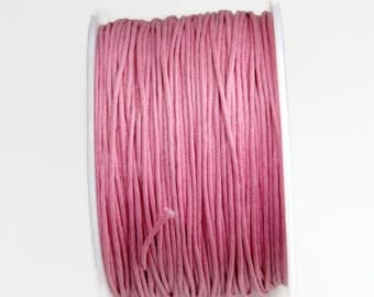 Pink Waxed Cotton Cord (1mm) 10 m- 11 yards S 40 087