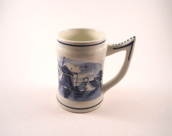 Delft Blue and White Mug  or Cup from Holland Delft on bottom