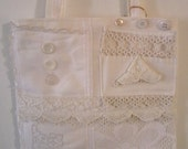 """SALE! Lacy White """"Shabby Sack"""" Tote"""