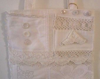 "SALE! Lacy White ""Shabby Sack"" Tote"