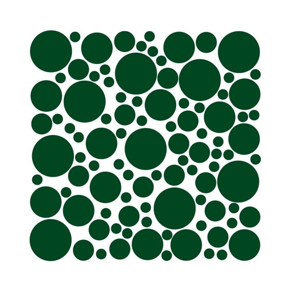 100 Wall Safe Vinyl Polka Dots Circles Dark Green Removable Temporary Adhesive Stickers Nursery Crib Kids Childs Bedroom Room