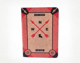 Louisiana Scout Journal, Louisiana Compass, Red Arrow, Southern, Notebook, Sketchbook, Louisiana, Scout, Pocket, Dot Grid