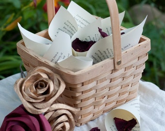 Wedding Petal Toss Cones Love Chapter Scripture