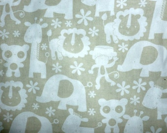 Jungle Animals Cotton Fabric by the Yard
