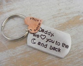 Personalized Daddy Key Chain