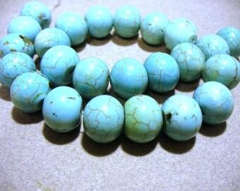 Magnesite Beads Turquoise Rondelle 11x10mm