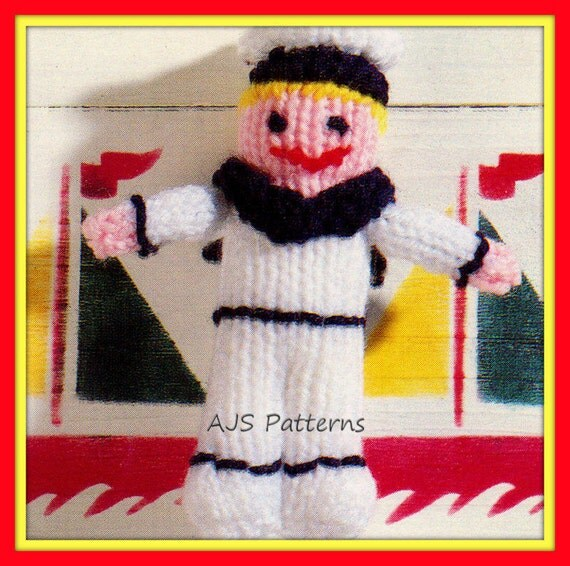 Knitting Pattern For Toy Boat : PDF Knitting Pattern - Boat Motif Sweater in Sizes to Fit 20