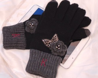 Smart Tip Gloves, Birthday Gift Sister, Personalized Gloves