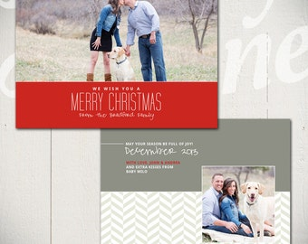 Christmas Card Template: Warmest Wishes A - One 5x7 Holiday Card Template for Photographers