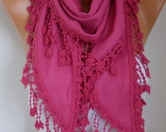 Hot Pink Pashmina Scarf, Summer Wedding Scarf,Cowl Shawl Bridal Accessories Gift Ideas For Her Women Fashion Accessories Women Scarves