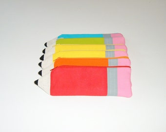 ONE Pencil Shaped Pencil Pouch - Teacher Gift - Stocking Stuffer-Pencil Case - Gift Under 10
