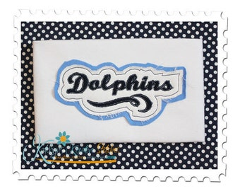Dolphins Distressed Applique