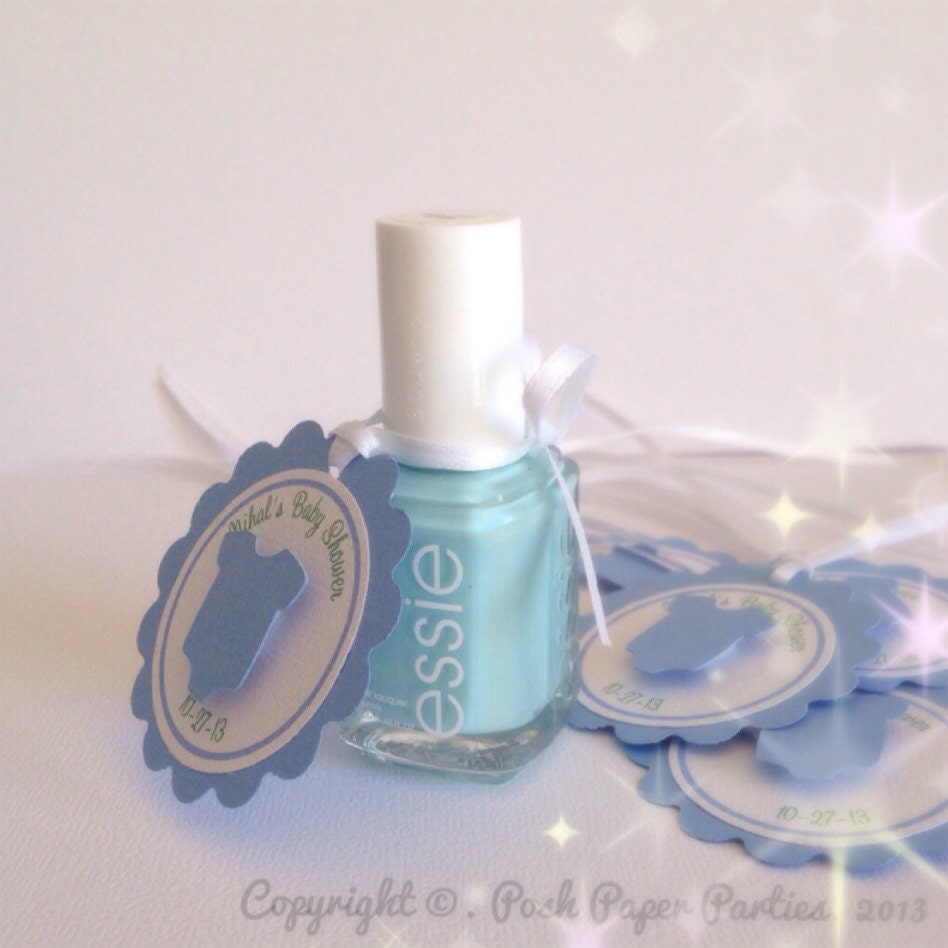 Baby Shower Favor Tags For Nail Polish It's A Boy Baby