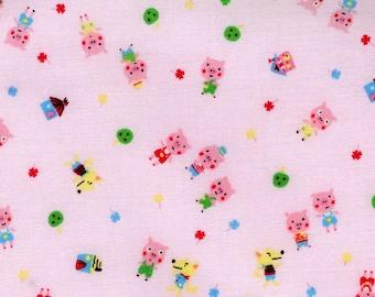 Minny Muu by Lecien - Three Little Pigs in Pink