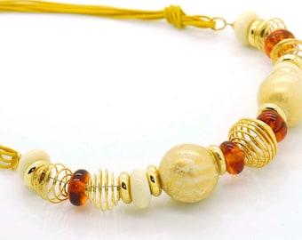 Venetian Glass Murano Handcrafted Murano Glass from Italy-Italian Glass  Necklace