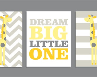 Giraffe Dream, Giraffe Decor,Printable Nursery Art Prints, Nursery Decor,Yellow-  File Download