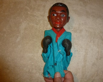 Rare Cassius Clay / Muhammad Ali Boxing, Punch, Punching Action Toy Made in Hong Kong SMC Ca. 1970's