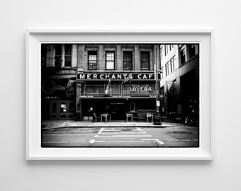 Seattle Art Pioneer Square Black and White Architecture Photograph, Architectural Art - Small and Large Wall Art Prints Available