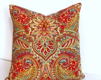 Waverly Swept Away Berry DECORATIVE PILLOW Cover Accent Pillow Throw Pillow  Handmade in the USA