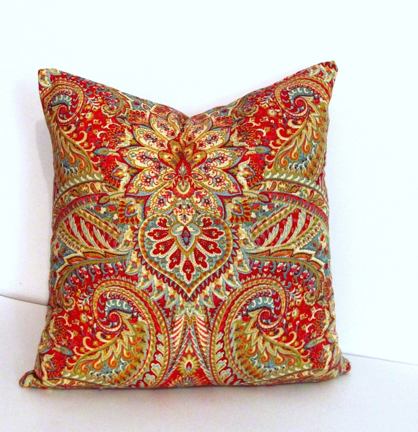 SALE Decorative Pillow Cover 18 by 18 Waverly Swept