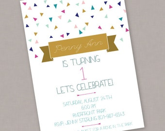Custom Birthday PRINTABLE Invitation - PDF Digital File