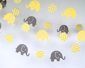 Elephants Paper Garland, Bridal Shower, Baby Shower, Party Decorations, Birthday Decor