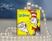Dr. Seuss #1 - Pendant from Scrabble® tiles. Scrabble® tile letter. Scrabble® necklace. Scrabble® tile pendant. Gift Present