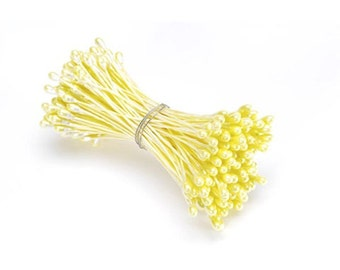 Flower Stamens Pearlized Yellow