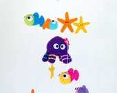 Sea Friends Mobile - PDF Crochet Pattern - Instant Download - Nursery Baby Shower Space Cuddy Stuff Plush