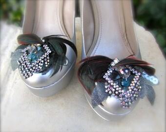 Wedding Shoe clips Elegant Art Deco