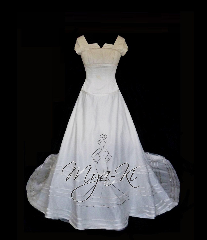 Modest A Line Princess Skirt Wedding Dress Gown Custom Order
