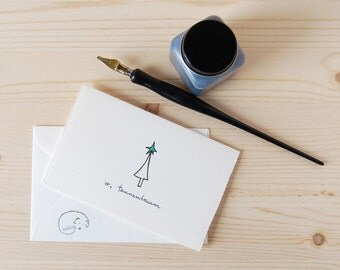 Christmas Tree Card - Cute Tree Drawing - O, Tannenbaum