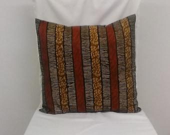 African Print Cushion Cover - Throw Pillows