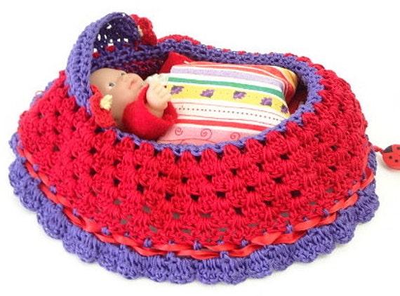 Peter Rabbit Amigurumi Pattern : cradle purse crochet itty bitty baby doll church by ...