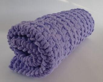 Crochet Cat Mat/Blanket- LAVENDER