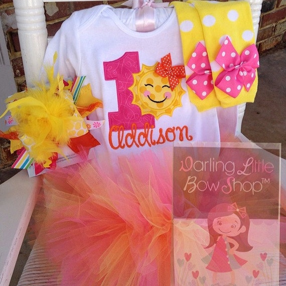Baby Girl First Birthday Tutu Outfit You Are My Sunshine