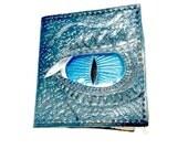 Dragon Age - Dragon Gift - Dragon Wallet - Dragon Eyes - Smaug - Leather Wallet - Husband - Boyfriend - Gift - Blue,Holds 8 Card,1 Bill Slot