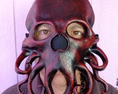 Leather Mask Cthulhu Steampunk Tentacles