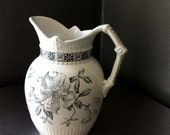 Aesthetic Period Ironstone Transfer Ware Pitcher