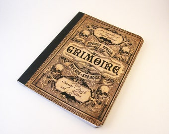 Ancient Spells Grimoire Altered Composition Notebook Journal