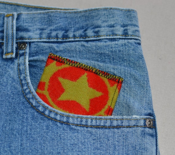 Sheriff STAR Wool wallet--mens or womens casual slim wallet--texas ranger cowboy wallet--chartreuse red front or back pocket wallet