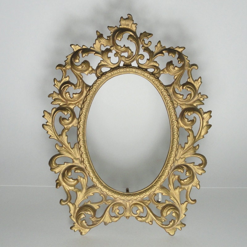 WILTON Cast Iron Picture / Mirror FRAME with Folding Easel