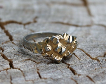 Vintage Gold Nugget  Petite Ring