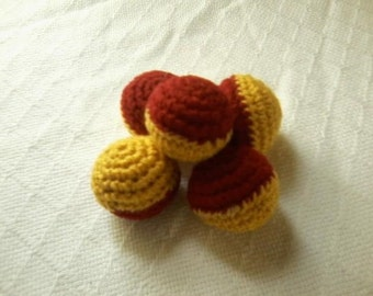 Cat Toy Balls- Cat Toys- Catnip- Jingle ball (inspired by Hogwarts School house colours)