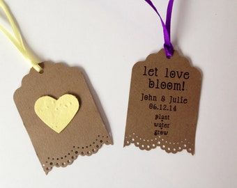 50 Seed Paper Favors - personalized gift or memento